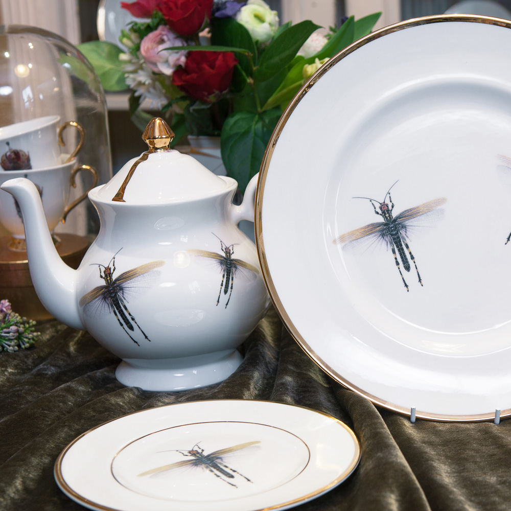 Dragonfly Bone China Plate & Dragonfly Bone China Plate | Melody Rose London