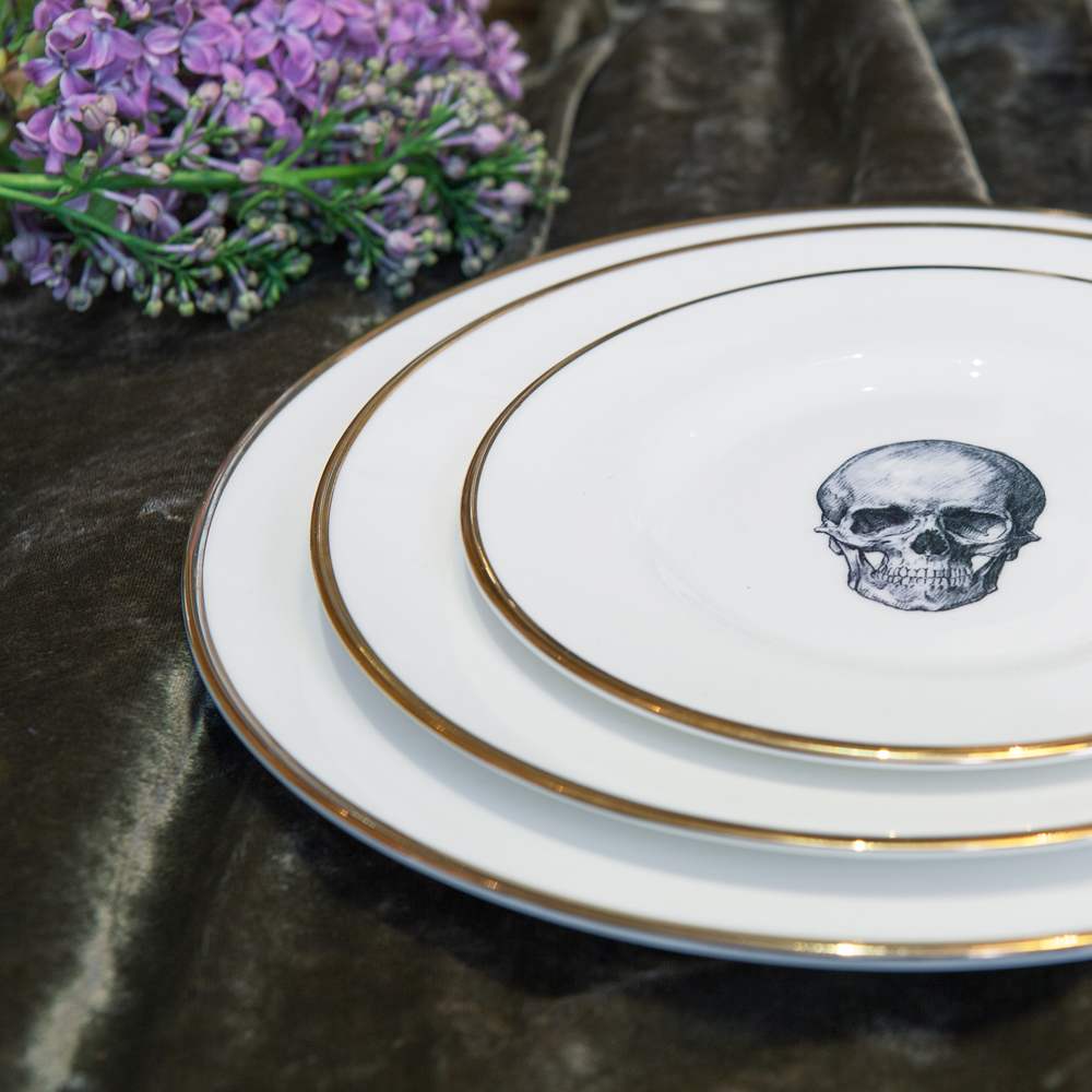 Skull Bone China Plate & Skull Bone China Plate | Melody Rose London