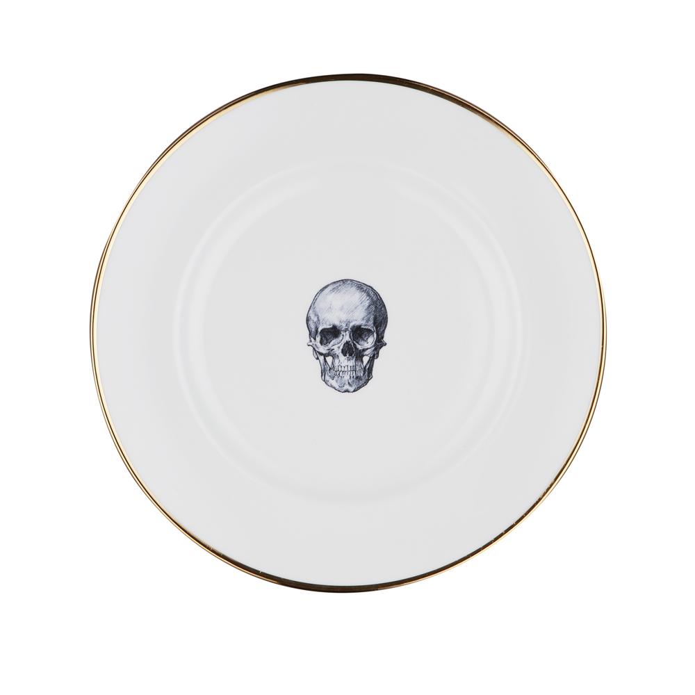 Skull Bone China Plate  sc 1 st  Melody Rose & Skull Bone China Plate | Melody Rose London