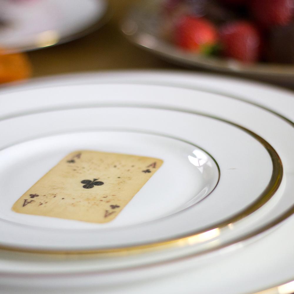 Playing Card Bone China Plate & Playing Card Bone China Plate | Melody Rose London