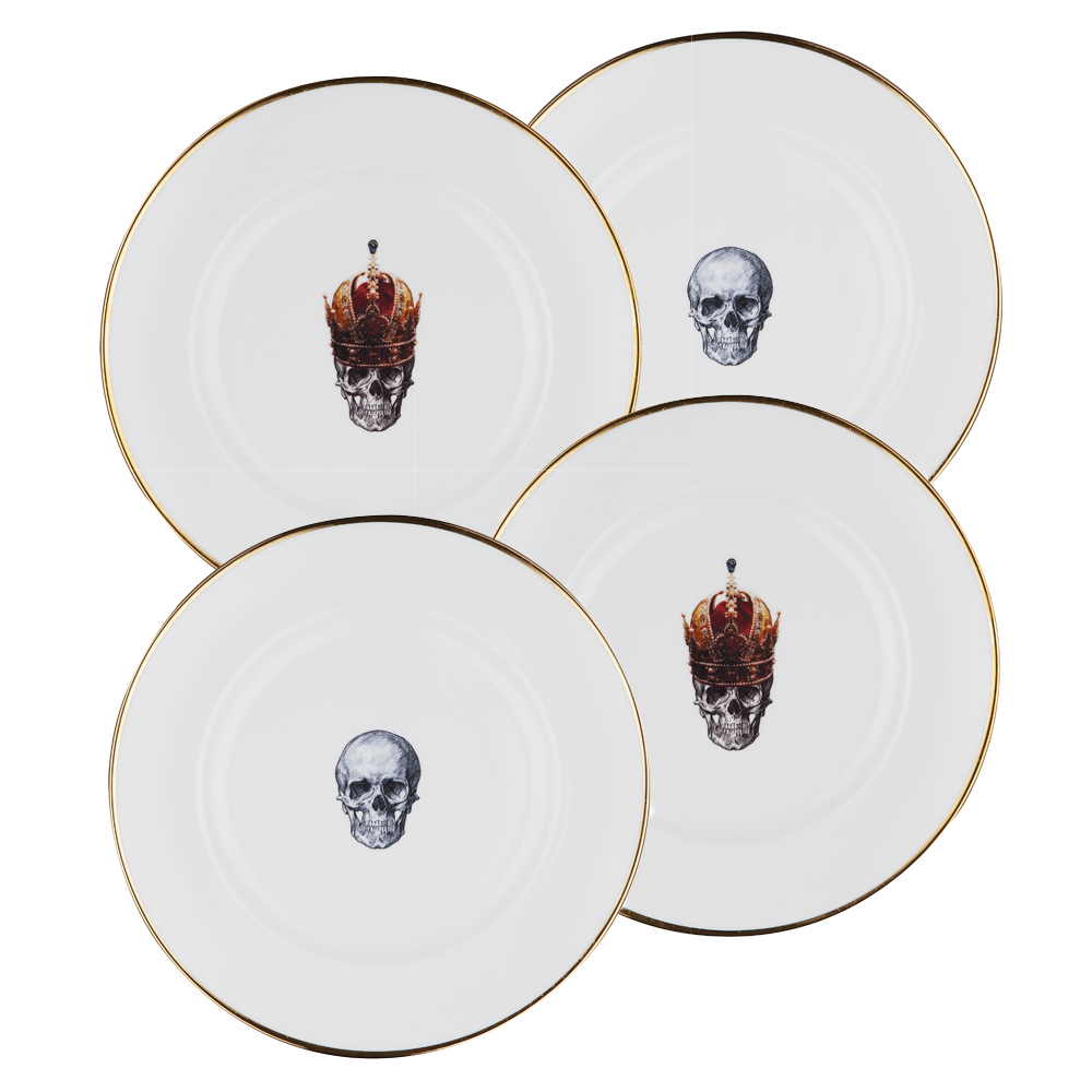 Rock and Roll set of 4 Dinner Plates  sc 1 st  Melody Rose & Rock and Roll set of 4 Dinner Plates | Melody Rose London