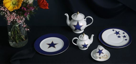 luck stars tea set
